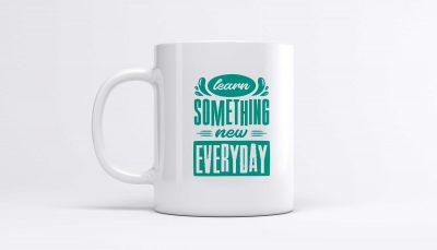 ماگ با طرح انگیزشی Learn Something-New Everyday